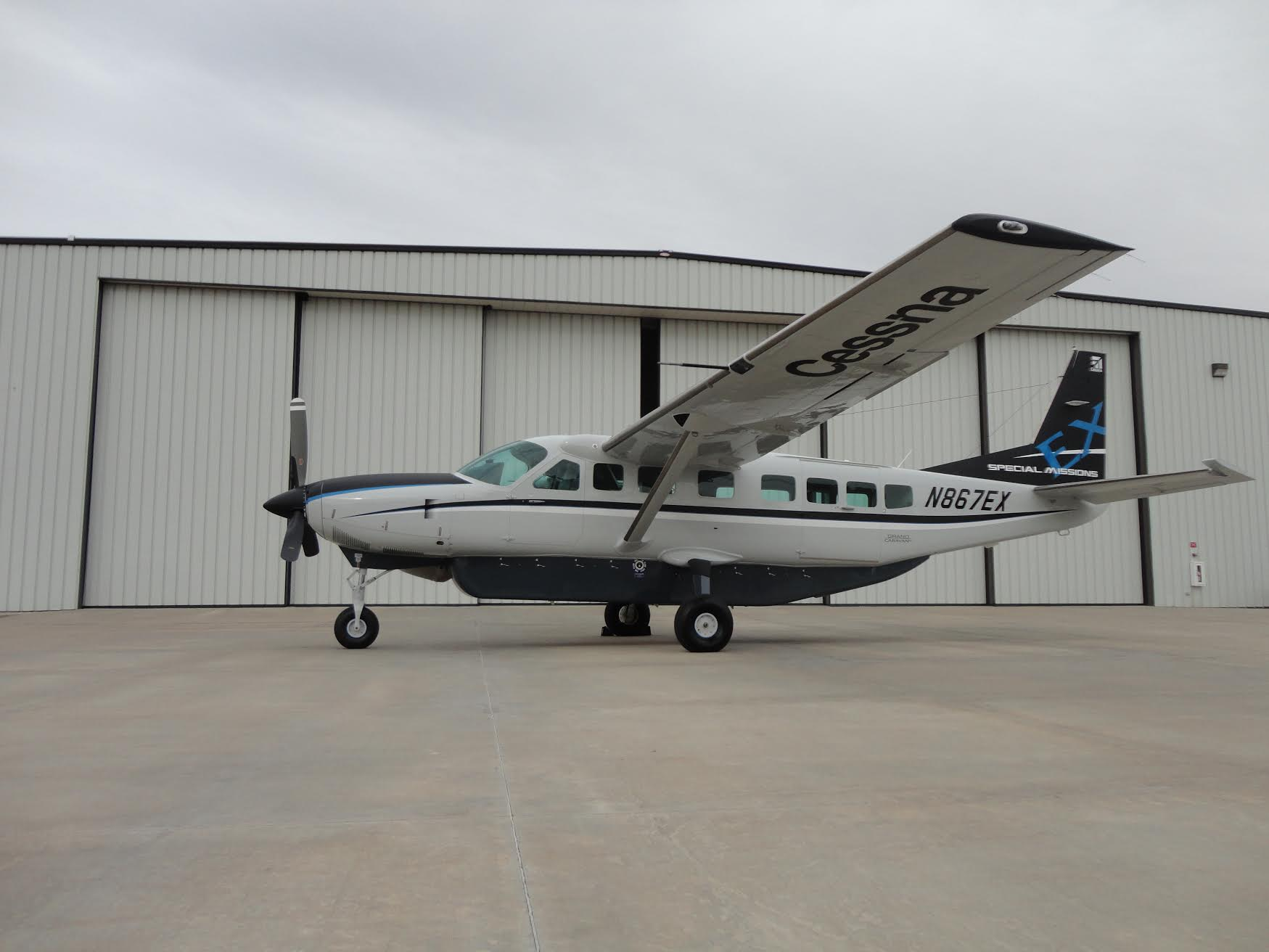 Cessna 208 Special Missions Aircraft equipped with Churchill Navigation ARS Mission Management System