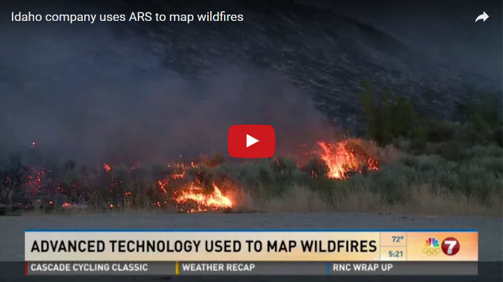 Mapping Wildfires with the help of ARS